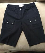 Womens Michael Kors Black Bermuda Shorts Size 8