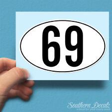 "69 Euro Oval - Vinyl Decal Sticker - c45 - 6"" x 3.75"""