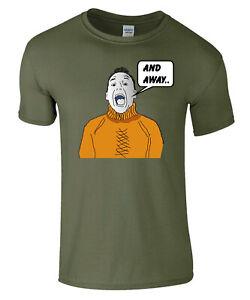 And Away Bob's Caricature Fishing T Shirt Military Green