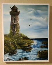 Old Light House, Original signed oil painting on canvas 16x20