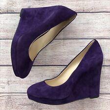 Nine West Halenia Purple Suede Wedges Size 8 Heels Womens Shoes Cute Fall