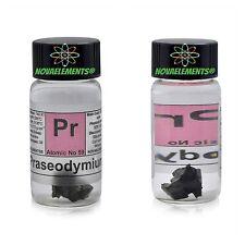 >~1g Praseodymium metal element 59 Pr pieces 99,9%, in labeled glass vial