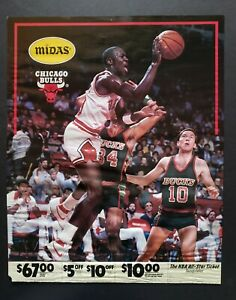 Michael Jordan 1984-85 Chicago Bulls Rookie Midas Advertising Poster