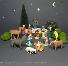 "Old French Santons ""Devineau"" Figurines, Christmas Nativity Set, Crèche, 14 pcs"