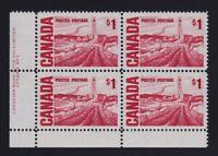 Canada Sc #465Biv (1967) $1 Centennial Pl. 2 LL Plate Block  MF PVA Gum Mint NH