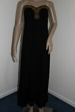 A.N.A.Womens Black Beaded Tube Maxi Dress NWT Size MEDIUM