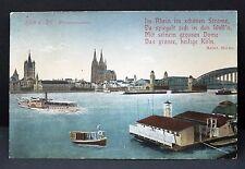 Köln am Rhein DR Schiff Dampfer AK Postkarte gelaufen (Lot -I-2903
