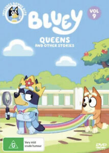 BLUEY VOLUME 9 QUEENS DVD-BRAND NEW/SEALED REGION 4 FREE SHIPPING!