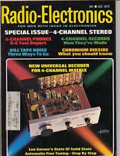 October 1972 Radio Electronics Magazine - 4 channel stereo 110 pages /a5