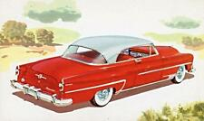 Old Print.  Red/White 1954 Chrysler Windsor Deluxe Newport Auto Ad