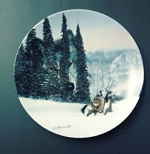 "Collectors Plate ""Wolf Ridge"" By Julie Kramer Cole Limited The Faces of Nature"