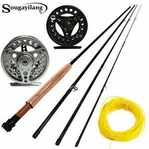 5/6 Fly Fishing Rod Set 2.7M Medium-fast Fly Rod Fishing Reel Combo Lure Line