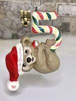 1990 Vintage Hallmark Keepsake Ornament Child's Fifth 5th Christmas Teddy Bear