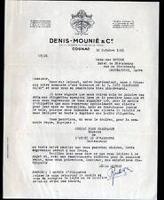 "COGNAC (16) ALCOOL / COGNAC ""Denis MOUNIE & Cie"" en 1951"