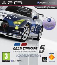 Gran TURISMO 5 ACADEMY EDITION PS3 * in ottime condizioni *