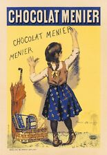 Chocolat Menier Vintage French France Poster Picture Print Advertisement