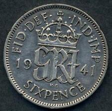 GREAT BRITAIN 6 Pence 1941 AG George VI