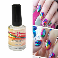 New Nail Art Glue for Foil Sticker Nail Transfer Tips Adhesive 15ml Star Nails