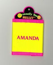 Personally Yours Wallet ~ AMANDA ~ Stocking Stuffer ~ Yellow Personalized Wallet