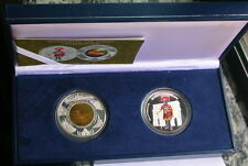 Cambodia 2006 Roma History Set of 2 Silver Gold Coins,Proof,Rare!
