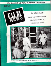 Film News Winter 1955-56 Kissing on the Sly Film Filmstrips Television Magazine
