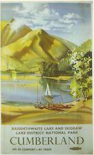 1950 Basssenthwaite Lake District BR A3 Poster Reprint
