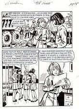 JULIANA BUCH MAGNIFIQUE PLANCHE ORIGINALE SIGNEE PUCK S'AMUSE PAGE 48