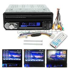 "SINGLE 1 DIN 7"" CAR DVD CD MP4 BLUETOOTH PLAYER HD TOUCH SCREEN RADIO CABLE SET"