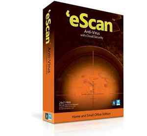 eScan Antivirus with cloud security for 3 PCs (ESD license)
