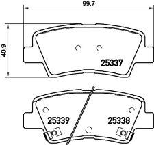 Mintex Rear Brake Pad Set MDB3252  - BRAND NEW - GENUINE - 5 YEAR WARRANTY