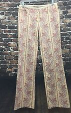Anthropologie Elevenses Paisley Floral Size 6 Pants Yellow, Pink