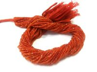 "1 Strand Natural Carnelian Rondelle Faceted 2-2.5mm Gemstone Beads 12""inch"