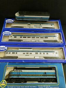 Ho Scale B&O Baltimore And Ohio Set Loco - Diner - Dummy - Observation -...
