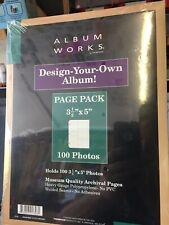 """Album Works """"Design your own Album"""" 3 1/2 x 5 , holds 100 photo's Style RF-0001"""