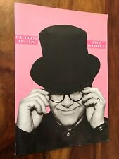 elton john the world (oversized program 1989) sleeping with the past(incomplete)