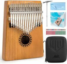 More details for kalimba,17 keys kalimbas thumb piano start kits with protective case study