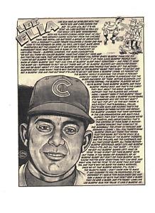 2010 Lee Elia Chicago Cubs Cartoon Baseball Print RH