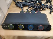 Belkin 4-Port Dual- Head SOHO KVM Switch F1DH104L with VGA + USB cables and AC
