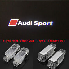 2X LED Door HD Logo Courtesy Projector Ghost Laser Puddle Lights For Audi Sport