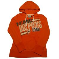 Miami Dolphins 4Her G-lll by Carl Banks Womens Hoodie Size XL Orange NFL