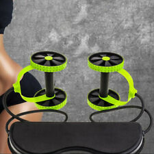 Roller Double Muscle Trainer Wheel Abdominal Power resistance bands Gym ArmW CR