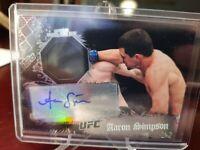 2010 Topps UFC Main Event Relic Aaron Simpson #49 Auto