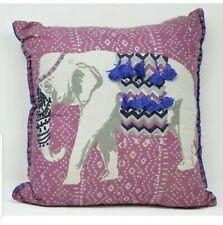 "Whim Martha Stewart Collection Eccentric Elephant 18"" Tassel Decorative Pillow"