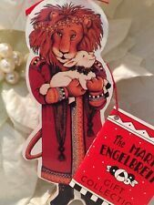 Mary Engelbreit Lion Lamb Wood Christmas Ornament Midwest Cannon Of Falls Vtg