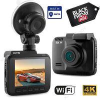 2.4'' 4K HD 1080P GPS Wifi Car DVR Dash Cam Video Recorder Dashbaord Camera New
