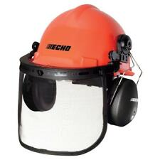 Echo Chainsaw Safety Helmet Mesh Face Shield Ear Guard Hard Hat Head Safety New