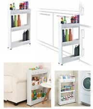 3 Tier Slide Out Multi Storage Cabinet Tower Folding Rolling Castor Trolley Rack