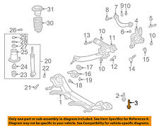 TOYOTA OEM Rear Suspension-Susp Crossmember Mount Bolt 9011914098