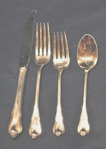 WALLACE GRAND COLONIAL STERLING FLATWARE SET FOR 8 BY 4 GREAT SHAPE