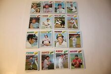 213 TOPPS BASEBALL 1977 COMMON CARDS 16 DIFFERENT TEAMS